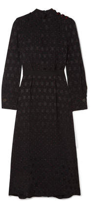 Cefinn - Printed Jacquard Midi Dress - Black