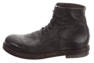 Marsèll Distressed Leather Round-To Boots