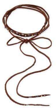 Chan Luu Aqua Terra Leather Wrap Necklace