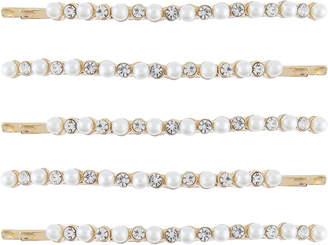 Accessorize 5x Pearl & Diamante Hair Slides