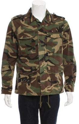 Saint Laurent Love Appliqué Camo Jacket w/ Tags