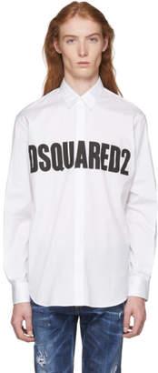 DSQUARED2 White Bold Logo Shirt