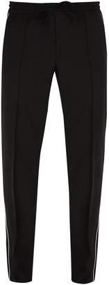 Valentino Side-stripe wool-blend track pants