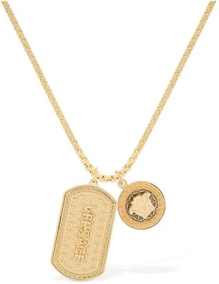 Versace Logo Charm Necklace