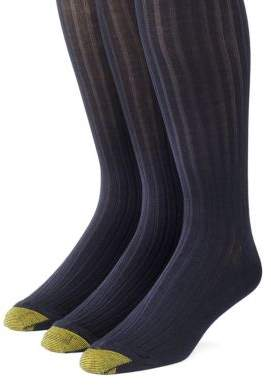 Gold Toe Goldtoe Three-Pack Canterbury Over-the-Calf Dress Socks