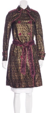 Marc by Marc Jacobs Jacquard Knee-Length Coat