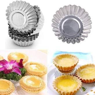 Yosoo YOSOO 10pcs Egg Tart Aluminum Cupcake Cake Cookie Mold Tin Baking Tool For Cakes 70mm bakeware Mould Kitchen Pastry Tools