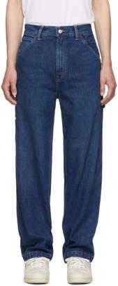 Polo Ralph Lauren Blue Dungaree Sport Throwback Jeans