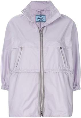 Prada zipped nylon rain jacket
