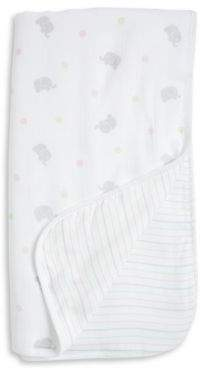 Little Me Baby's Cotton Elephant Blanket