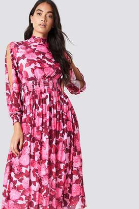 Na Kd Boho Mesh Open Sleeve Dress