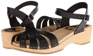 Swedish Hasbeens Cross Strap Debutant Women's Sandals