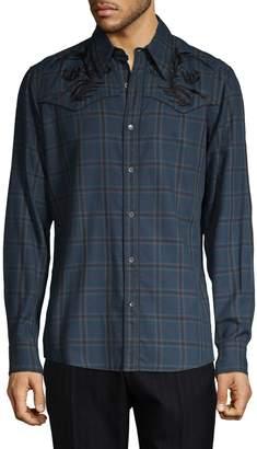 Dries Van Noten Plaid Button-Down Shirt