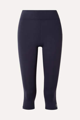 1645acadd43f Tory Sport Cropped Striped Stretch-tactel Leggings - Navy