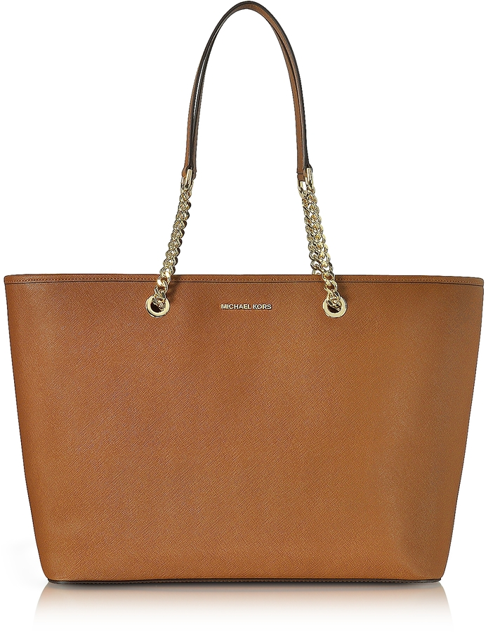MICHAEL Michael Kors Michael Kors Jet Set Travel Chain Medium Luggage T/Z Saffiano Leather Multifunction Tote