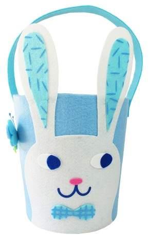 Spritz Easter Blue Felt Bunny Basket