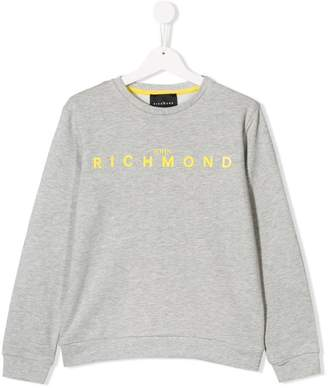 John Richmond Junior TEEN logo print sweatshirt