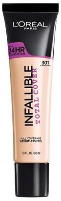 L'Oréal® Paris Infallible Total Cover Foundation 1.0 oz $10.99 thestylecure.com