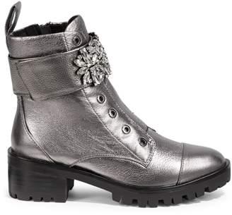 Karl Lagerfeld Paris Pippa Embellished Combat Boots