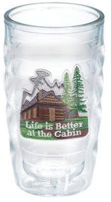 Tervis Tumbler Great Outdoors Life is Better at the Cabin 10 oz. Plastic Every Day Glass Lid Included: No