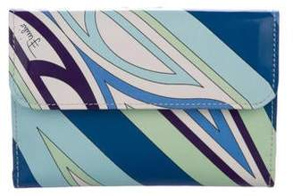 Emilio Pucci Patent Leather Compact Wallet
