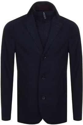 Ted Baker Toastie Herringbone Blazer Jacket Navy