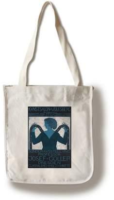 Lantern Press Sonderausstellung Josef Guller - Kunstsalon WolfsbergPoster (artist: Goller) Switzerland c. 1911 (100% Cotton Tote Bag - Reusable)