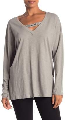 Lush Knit V-Neck Long Sleeve Top