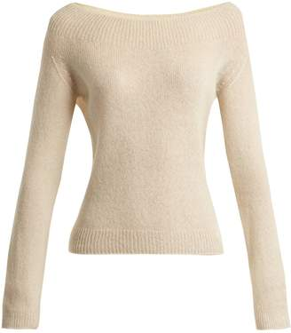 Kolbie cashmere and silk-blend fine-knit sweater