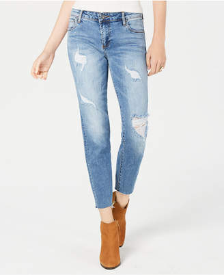 KUT from the Kloth Reese Ripped Straight-Leg Ankle Jeans
