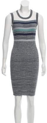 Chanel Striped Metallic Dress