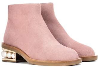 Nicholas Kirkwood Casati calf hair ankle boots