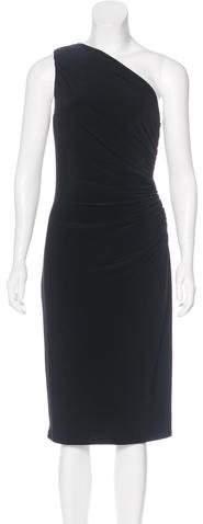 Ralph Lauren One-Shoulder Midi Dress