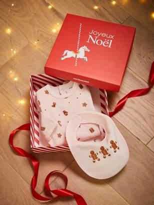Vertbaudet Christmas Gift Box with Sleepsuit & Bib, for Babies, JAA