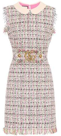 Gucci Embellished tweed dress