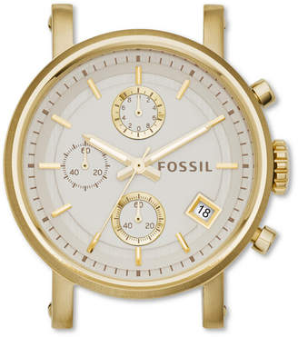 Fossil Original Boyfriend Chronograph Gold-Tone Stainless Steel Watch Case