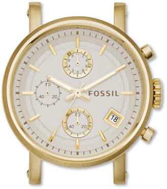 Fossil Original Boyfriend Chronograph Gold-Tone Stainless Steel Watch Case