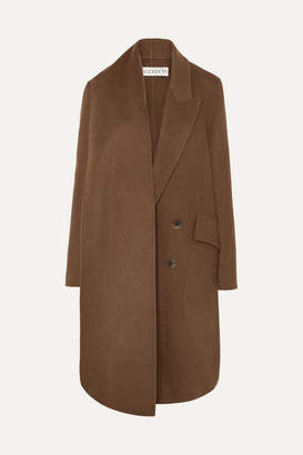 J.W.Anderson Asymmetric Double-breasted Wool-blend Coat - Brown