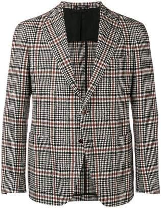 Tagliatore checked tailored blazer