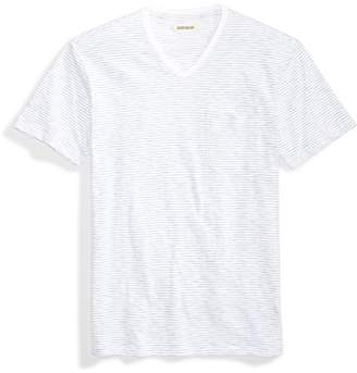 Goodthreads Men's Short-Sleeve V-Neck Striped Slub Pocket T-Shirt