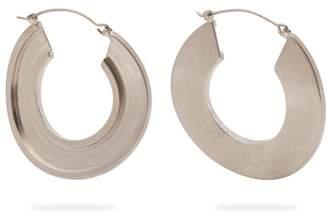 Marni Open Hoop Palladium Plated Earrings - Womens - Silver