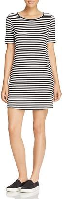 Majestic Filatures Striped Crewneck Dress $195 thestylecure.com
