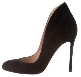 Gianvito Rossi Round-Toe Suede Pumps w/ Tags