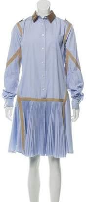 Sacai Pleated Button-Up Dress
