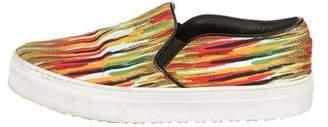 Celine Stripe Slip-On Sneakers