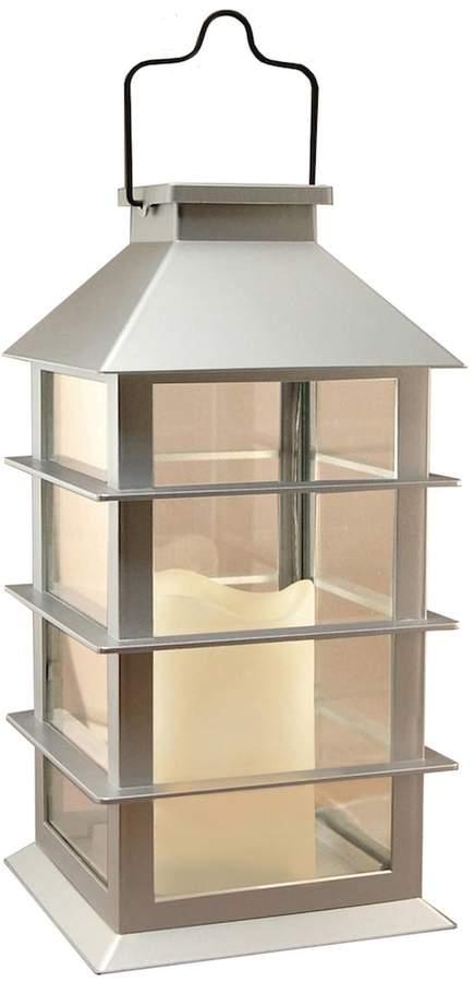 Lumabase LumaBase Silver Solar Lantern & LED Candle