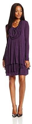 Kensie Women's Long-Sleeve Sheer Dress