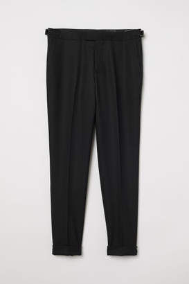 H&M Slim fit Wool-blend Pants - Black
