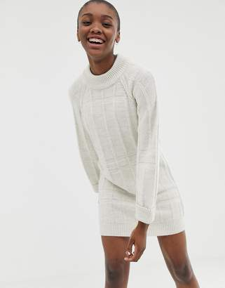 Asos Design DESIGN stitch detail knitted mini dress
