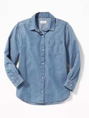 Old Navy Chambray Boyfriend Tunic Shirt for Girls